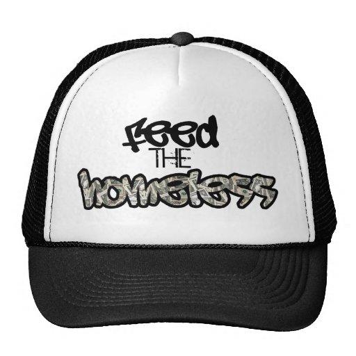 Alimente el gorra sin hogar
