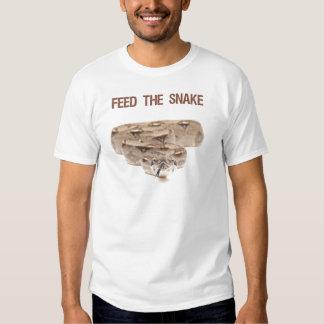 Alimente la camiseta de la serpiente camisas