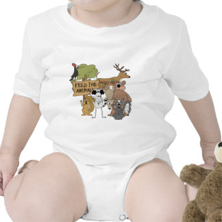 Alimente los animales traje de bebé