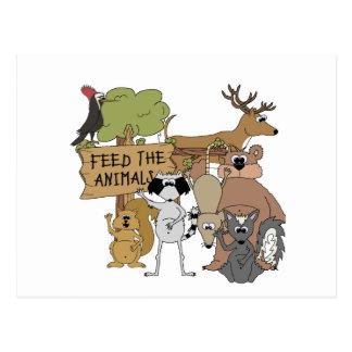 Alimente los animales postal