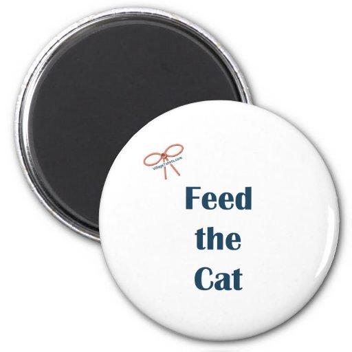 Alimente los recordatorios del gato imán redondo 5 cm