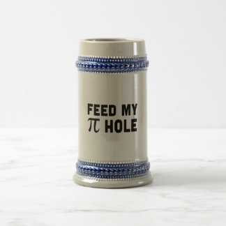Alimente mi agujero del pi jarra de cerveza