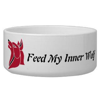 Alimente mi hazaña interna del lobo el lobo rojo boles para gatos