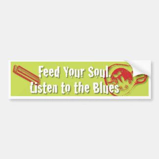 Alimente su alma, escuche la pegatina para el para etiqueta de parachoque
