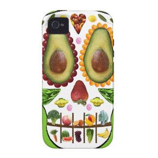 Alimente su caso duro del iphone 4 del cráneo vibe iPhone 4 carcasa