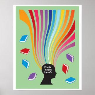 Alimente sus libros principales póster