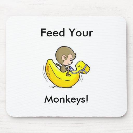 ¡Alimente sus monos! Tapetes De Ratones