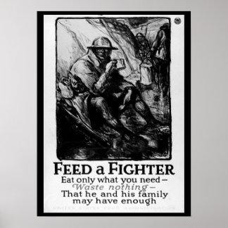 Alimente un combatiente/coma solamente qué imagen póster