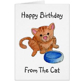 Aliménteme ahora la tarjeta de cumpleaños