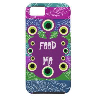 ALIMÉNTEME la caja rayada monstruo púrpura del iPh iPhone 5 Case-Mate Fundas