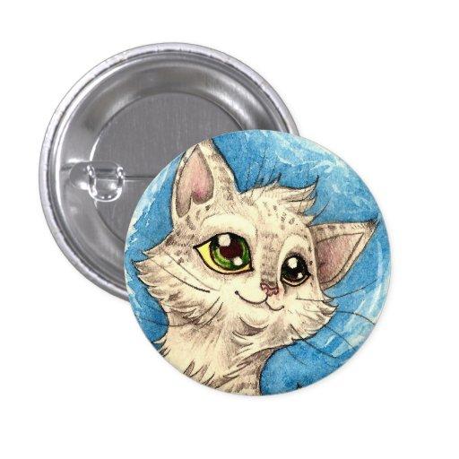 Aliménteme la insignia del azul del gatito pins