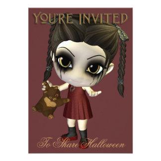 Aliménteme la invitación del fiesta de Halloween d