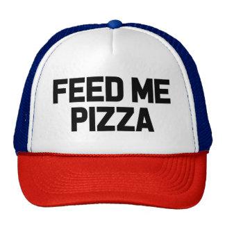 Aliménteme la pizza gorra divertido del foodie