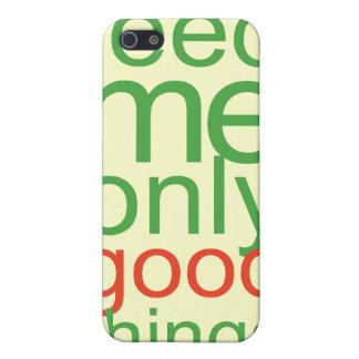 Aliménteme solamente buen ThingsThis diseño verde iPhone 5 Carcasas