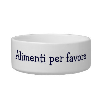"ALIMENTI PER FAVORE"" ITALIAN FEED ME PLEASE! BOWL"