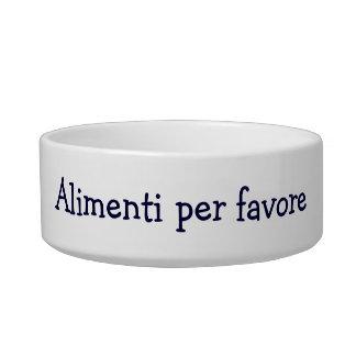 "ALIMENTI PER FAVORE"" ITALIAN FEED ME PLEASE! CAT BOWL"