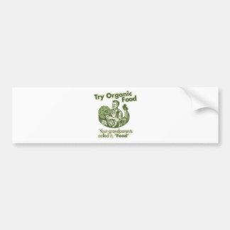 Alimento biológico etiqueta de parachoque