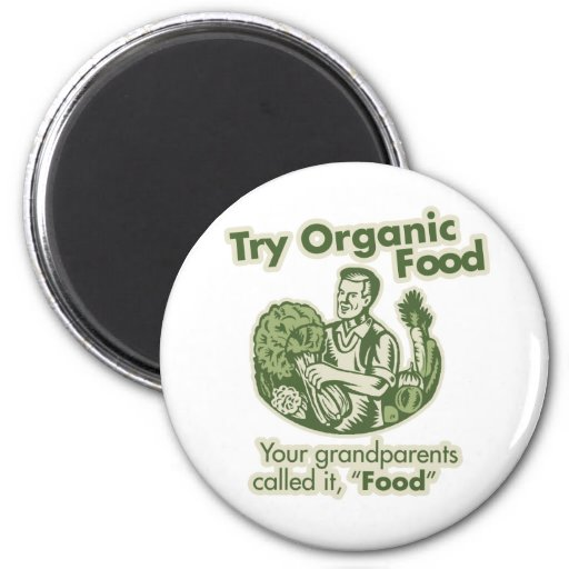 Alimento biológico iman de nevera