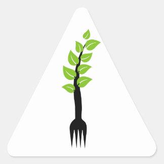 Alimento biológico pegatina triangular
