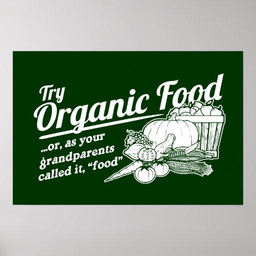 """Alimento biológico - sus abuelos lo llamaron la """"c poster"""