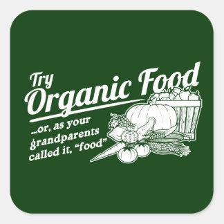 Alimento biológico - sus abuelos lo llamaron la pegatina cuadrada