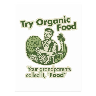 Alimento biológico tarjeta postal