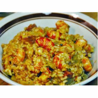 Alimentos de preparación rápida de los cangrejos fotoescultura vertical