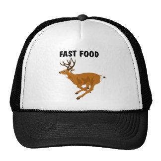 Alimentos de preparación rápida de los ciervos div gorro de camionero
