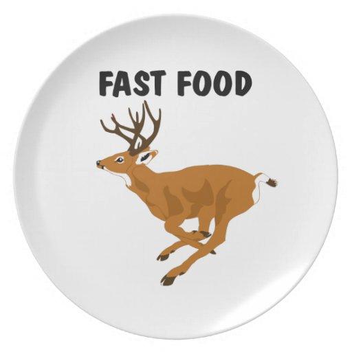 Alimentos de preparación rápida de los ciervos div plato para fiesta