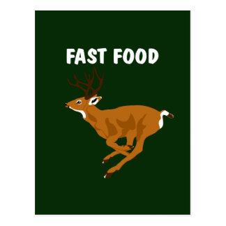 Alimentos de preparación rápida de los ciervos tarjeta postal