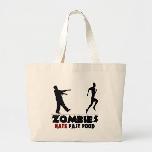 Alimentos de preparación rápida de los zombis dive bolsas lienzo