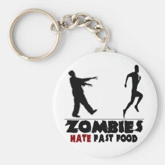 Alimentos de preparación rápida de los zombis dive llavero redondo tipo pin