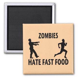 Alimentos de preparación rápida del zombi iman para frigorífico