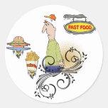 Alimentos de preparación rápida etiquetas