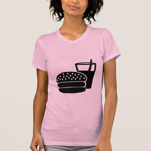 Alimentos de preparación rápida - hamburguesa camisetas