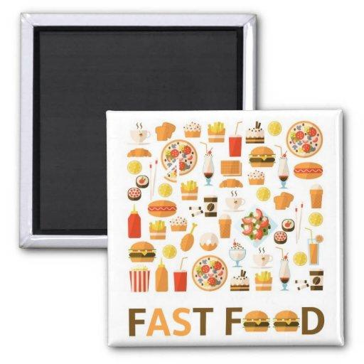 Alimentos de preparación rápida iman de frigorífico