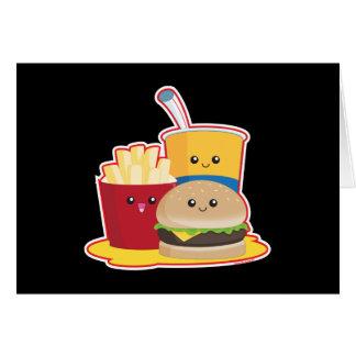 Alimentos de preparación rápida tarjeta de felicitación