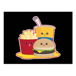 Alimentos de preparación rápida tarjetas postales