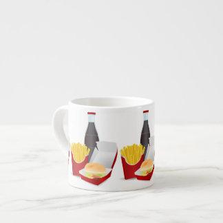 Alimentos de preparación rápida taza espresso