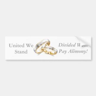 alimony bumper sticker