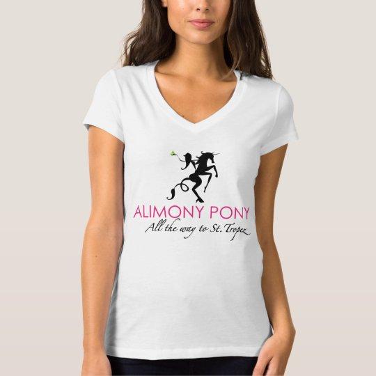 Alimony Pony All The Way To St. Tropez Women's T T-Shirt