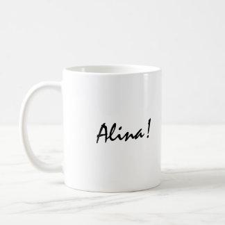 Alina Classic White Coffee Mug