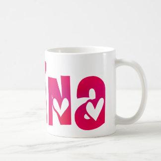 Alina in Hearts Coffee Mug