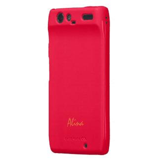 Alina Motorola Droid Razr red case Droid RAZR Cover