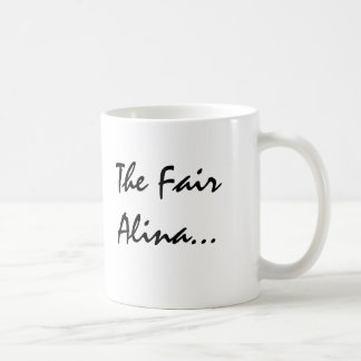 Alina With Celtic Meaning Classic White Coffee Mug
