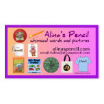 Alina's Pencil Publishing 2014 Business Card Template
