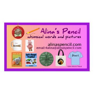Alina's Pencil Publishing 2014 Double-Sided Standard Business Cards (Pack Of 100)
