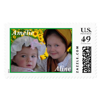 Aline and Amelie Postage Stamp