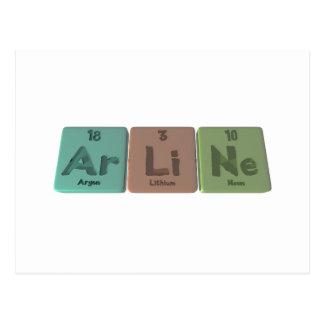 Aline as Argon Lithium Neon Postcard