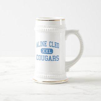 Aline Cleo - pumas - alto - Aline Oklahoma Tazas De Café